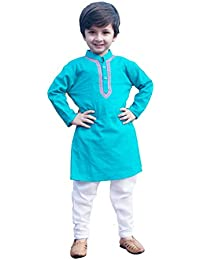 My NewBorn Baby Boy's Cotton Kurta Pyjama Set