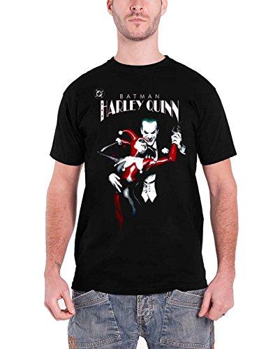Suicide Squad T Shirt Batman Harley Quinn and Joker Official Mens Black