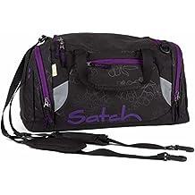 f940291a987cb Satch Sporttasche II Purple Hibiscus 9C6 schwarz lila