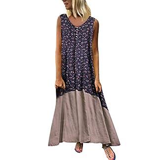 MEIbax-Damen-Vintage-Patchwork-Lose-Boho-Lange-Kleid-rmellos-Strandkleid-Sommerkleider-Maxikleid