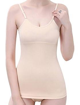 Fajas Reductoras Adelgazantes Camisetas Moldeadora Body Reductor Compresión Ropa Interior para Mujer(Beige, 2XL...