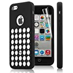 "Item details:      Brand new, slim material, unique ""Polka Dot HOLE"" design.     Full body protection case, prevents from dust and damage to your Apple iPhone 5C.     Extremely smooth, perfectly match with your iPhone 5C's shape and make your iPhone ..."