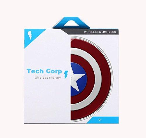 Tech Corp Captain America DE Drahtlos Wireless Induktive Ladestation/Ladegerät für Samsung Galaxy S7/S7 Edge Note 5 - 8