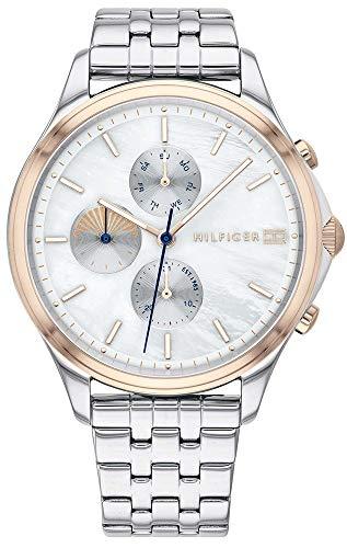 Tommy hilfiger orologio analogico quarzo donna con cinturino in acciaio inox 1782122