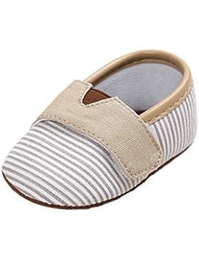 Baby Schuhe Auxma Baby-Jungen-Kleinkind-weiche alleinige Streifen-Segeltuch-Schuhe Kleinkind-erste Wanderer-Schuhe...