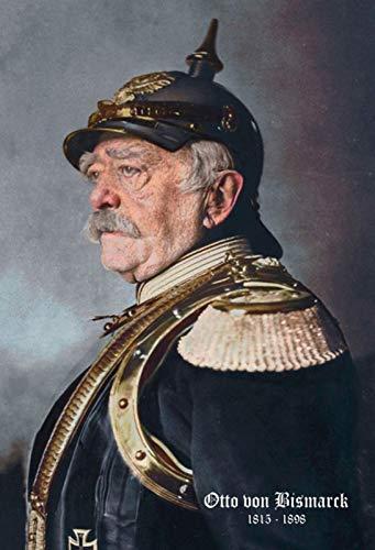 Blechschild Nostalgie Portrait Otto von Bismarck Metallschild 20x30 cm tin Sign