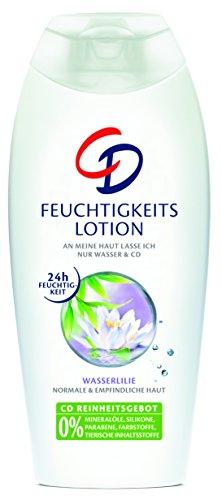 CD Feuchtigkeitslotion Wasserlilie / Bodylotion geeignet für empfindliche Haut im Vorratspack / Vegan / 3er Pack (3 x 400 ml)