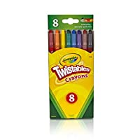 CRAYOLA 52-7408 8PK Twist (Twistable Crayons, Multi-Colour, 20.260000000000002 x 8.99 x 1.19 cm