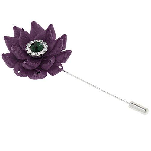 Generic Nouveau Broches en Strass Cristal Bouquet Fleur Bijoux Décoration Vêtement Fête Mariage 6