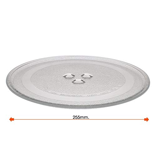 Plato giratorio microondas Balay Daewoo diametro 255 mm 3WG2421 4WG214A 3WG19X 3WH2126E
