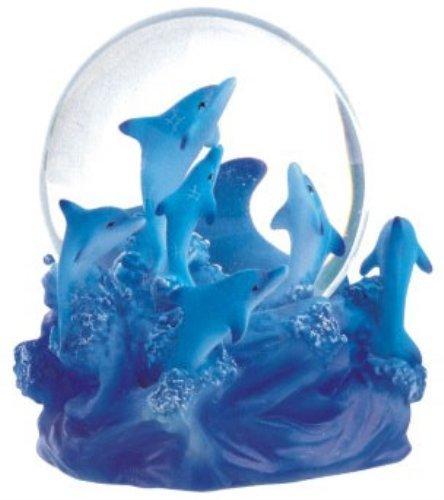 George S. Chen Imports Snow Globe Dolphin Collection Schreibtisch Figur -