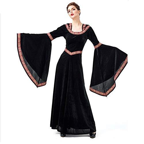 Disfraz De Halloween Witcher Robe Disfraz De Mujer Adulta - Negro (Size : XL)