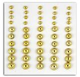 Toga 50Mini perle adesive, Plastica, Oro, 8x 11x 0,5cm