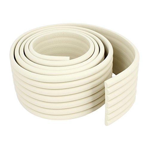 sourcingmap-off-white-soft-flexible-foam-table-protector-edge-guard-strip-2m-long