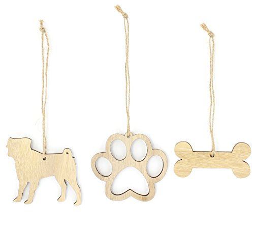 Hundeliebhaber Geschenke aus Holz Hund Weihnachten Ornament Bundle, holz, mops, Pug -