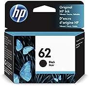 HP 62 C2P04AE, Negro, Cartucho Original de Tinta, ompatible con impresoras de inyección de tinta HP ENVY 5540,