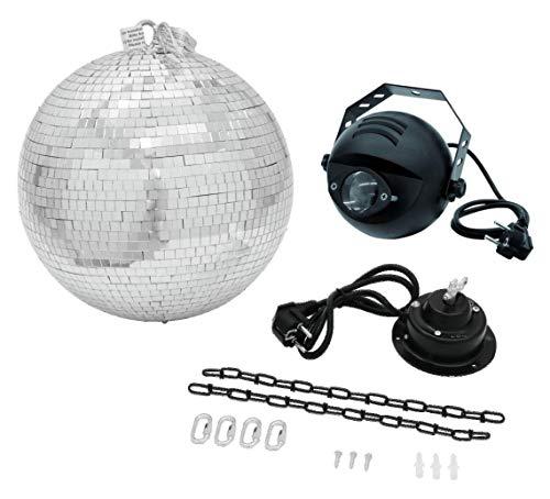 Eurolite LED Spiegelkugelset 30cm (inkl. Pinspot mit Farbwechsel, Motor MD-1515 und einer Kette für die Spiegelkugel)