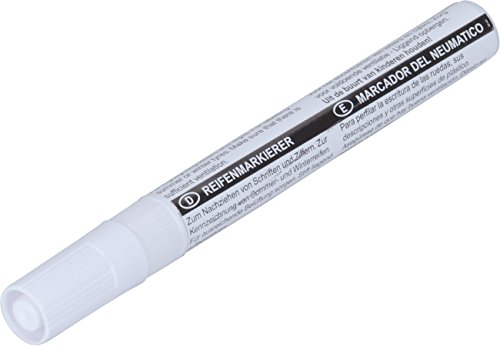 hr-imotion Markierungs-Stift zum beschriften von Reifen, Bällen, Tafeln und mehr [weiß | wasserfest] - 12510101