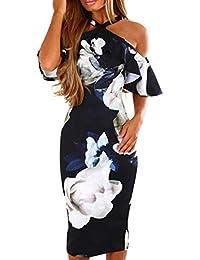 Vestido de Fiesta Mujer,Modaworld ❤ Vestido de Hombro con Estampado Floral de Mujer
