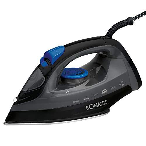 Bomann DB 6003 CB - Plancha (Plancha vapor-seco, Negro, Azul, 1800 W, 220-240 V, 50/60 Hz)