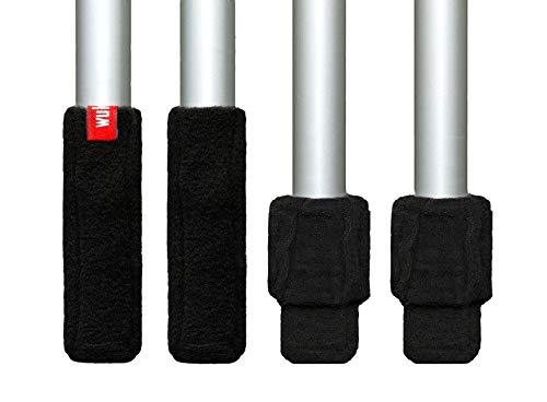 Wukies Stuhlsocken Stulpe (Klein, Umfang 6 - ca. 9 cm, Schwarz) -