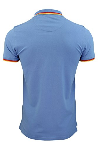 "Brave Soul - Herren T-Shirt ""Warsaw"" spitzer Kragen kurze Ärmel Blassblau"