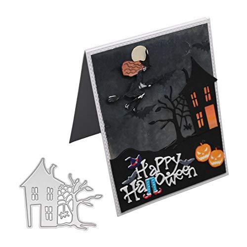 XuBa Neue 2018 Halloween Spukhaus Stanzformen Schablone Metall DIY Scrapbooking Präge Album Papier Karte Handwerk