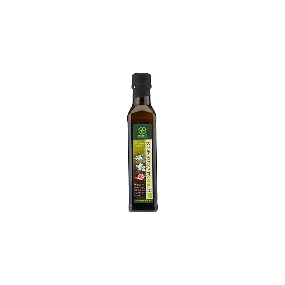 Manako Bio Schwarzkmmell Human Kaltgepresst 100 Rein 250 Ml Glasflasche 1 X 025 L