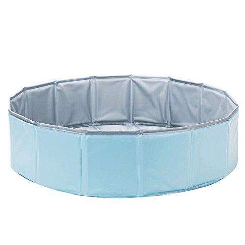 YC electronics Bañera para Perro, Pet Cat Dog A Bath, Bañera Plegable, Bañera para Baño, 80 * 20cm (Color : Blue)