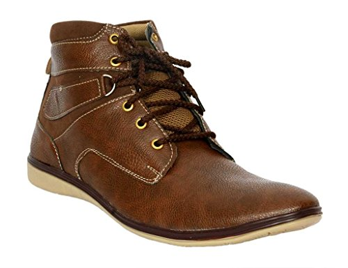 T-Rock Vision Men's Party Wear Brown Casual Boots Laced -up Comfortable wear shoes / All sizes