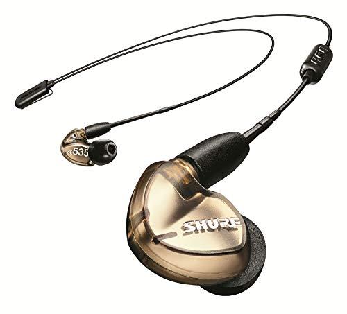 Shure SE535 Bluetooth 5.0 In Ear Kopfhörer mit Sound Isolating Technologie und Mikrofon für iPhone & Android - Premium Kabellos Ohrhörer mit warmem & detailreichem Klang - Bronze thumbnail