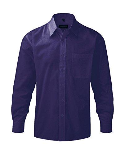 Preisvergleich Produktbild Russell Herren Hemd Polycotton Poplin R-934M-0 Purple 47-48 cm (3XL)