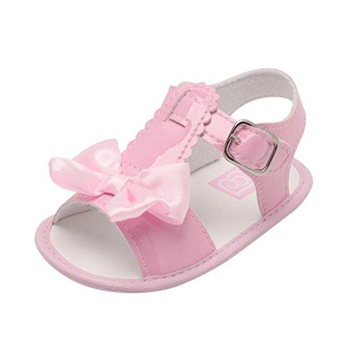 UOMOGO Scarpine neonato Scarpe Primi Passi Sportive Sandali per 0-18 Mesi (Età: 0~6 mesi, Rosa)