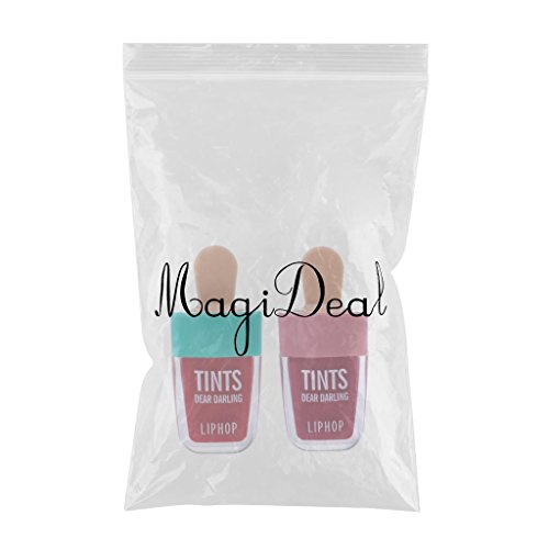 MagiDeal 2 Colori Di Lunga Durata Lip Stain Lip Water Tint Lips Makeup Matte Gloss Set