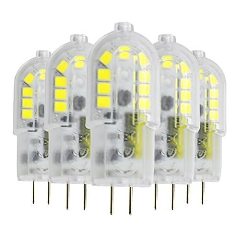 Haute qualité , Dimmable G4 3W 18 LED 2835 SMD 200-300 Lm Blanc chaud Blanc frais Blanc naturel Blanc clair Lumières Bi-Pin AC / DC 12 V (5 Pcs) Fit Maison et cuisine ( Couleur : Blanc Neige )