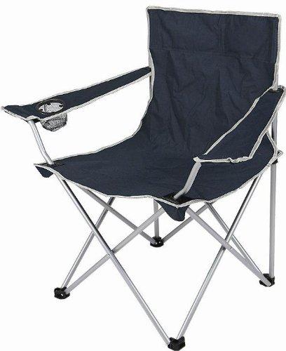 Zurück Stühle, Hocker (Anaterra Campingstuhl, Faltstuhl, Anglerstuhl mit Armlehne und Getränkehalter, blau)