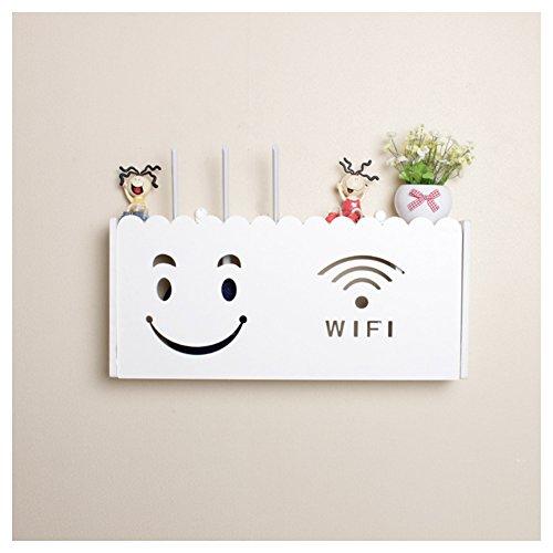 Tamaño grande soporte pared router wifi cajas almacenamiento