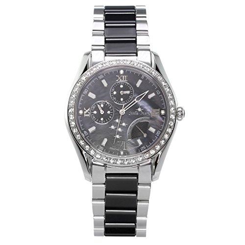 Stella Maris STM15M2 - Reloj de Cuarzo con Correa de cerámica para Mujer, Color Negro