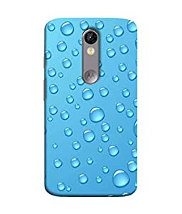 Snapdilla Designer Back Case Cover for Motorola Moto X Force :: Motorola Moto X Force Dual SIM (Rain Bubble Abstract Transparent Cool )