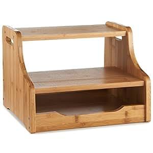 vonhaus tabouret escabeau 2 marches de cuisine compact portable en bambou cuisine. Black Bedroom Furniture Sets. Home Design Ideas