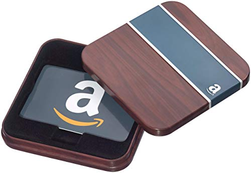 Amazon.de Geschenkkarte in Geschenkbox (Braun und Blau)