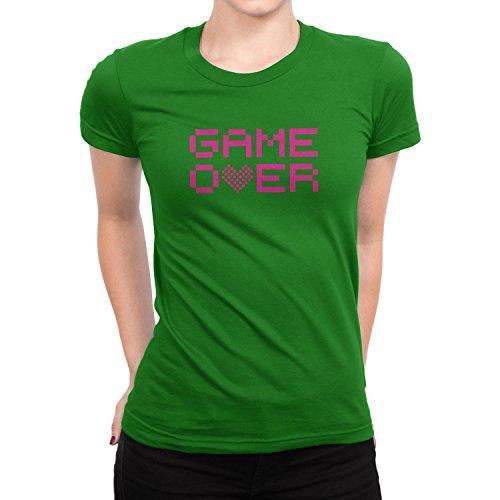 Planet Nerd Game Over - Damen T-Shirt Grün