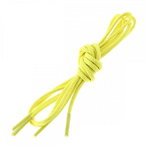 Les lacets Français - Lacets Ronds Coton Ciré Couleur Jaune Canari