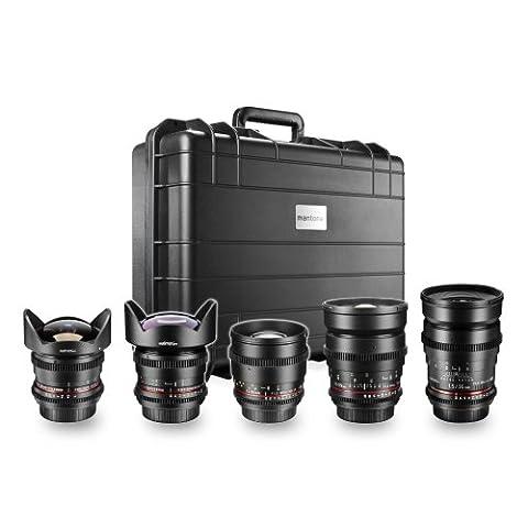 Walimex Pro VDSLR All Star Objektiv-Set für Canon