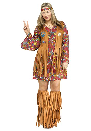 Peace & Love Plus Size Fancy Dress Costume 4X