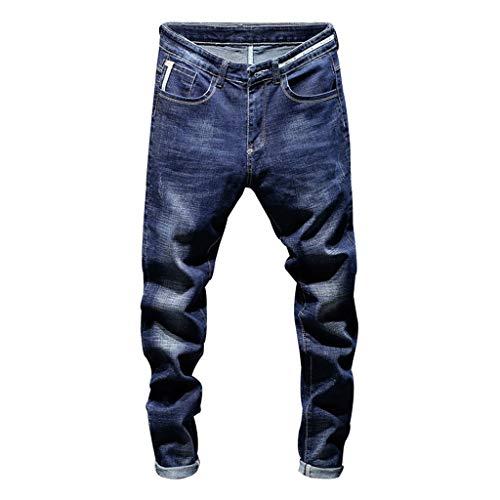 Qinsling pantaloni sportivi da uomo pantaloni casual elastico jeans con foro slim-fit strappato slim fit stretti lavoro elegante sportivo jeans uomo stretti alla caviglia pantaloni uomo jeans