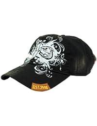 Strike Schildmütze mit Adlerkopf und floralem Design schwarz