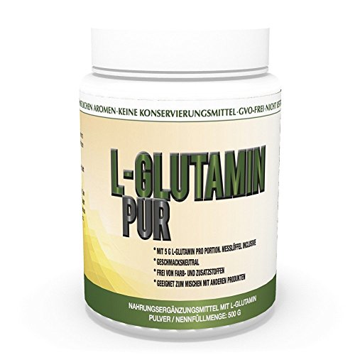 Vita World L-Glutamine Poudre pur 500g 100% pureté Sans additif Made in Germany