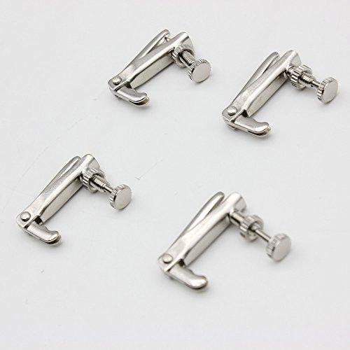 ammoon 4pcs Violine Fine Tuner Zugeinsteller Kupfer Nickel Legierung Silber für 3/44/4Geige Zubehör