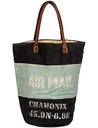 Priti Vintage Design Handbag L Tote Bag In Hand Paint Canvas Cotton Bag